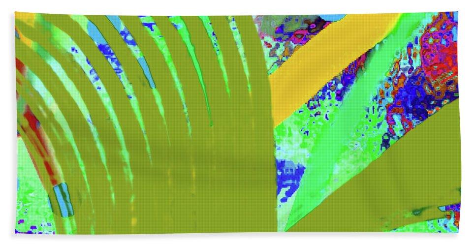 Walter Paul Bebirian Beach Towel featuring the digital art 8-27-2015cabcdefghijklmnopq by Walter Paul Bebirian