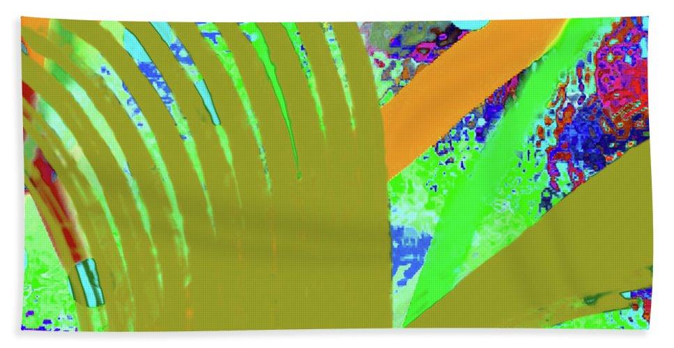 Walter Paul Bebirian Beach Towel featuring the digital art 8-27-2015cabcdefghijklmnopqr by Walter Paul Bebirian