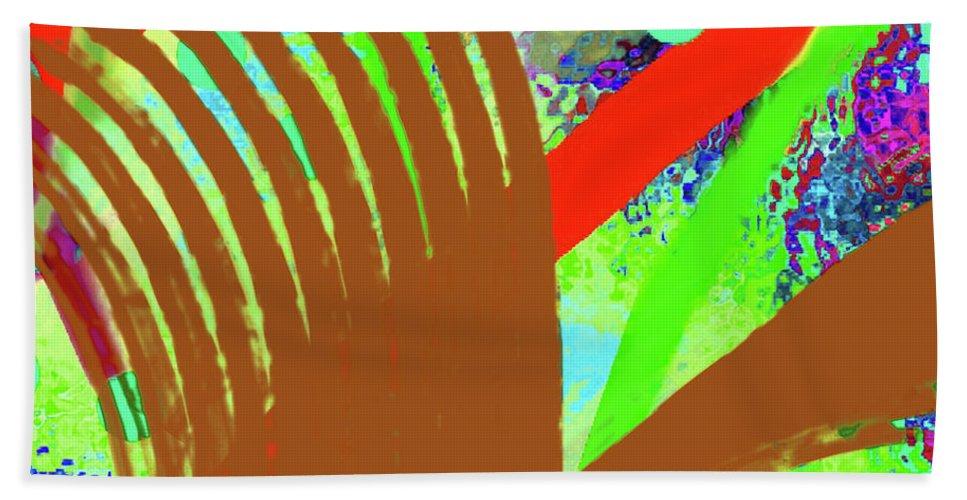 Walter Paul Bebirian Beach Towel featuring the digital art 8-27-2015cabcdefghijklmnopqrtuv by Walter Paul Bebirian