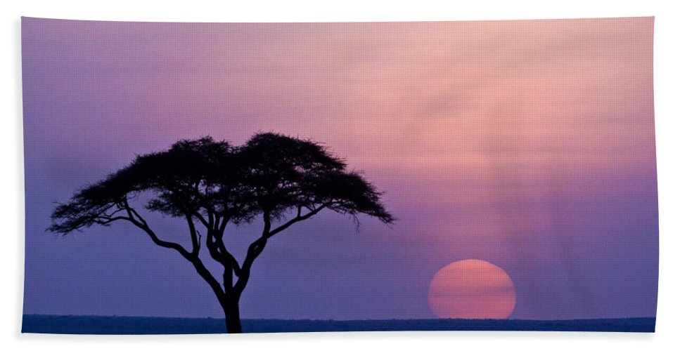 Africa Beach Towel featuring the photograph African Sunrise by Michele Burgess