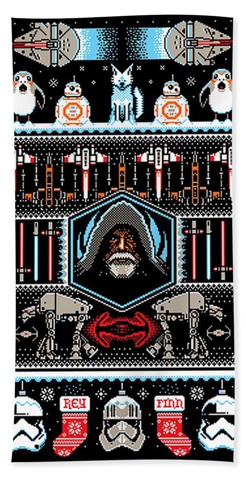 8 Bit Pixel Art Star Wars Beach Sheet
