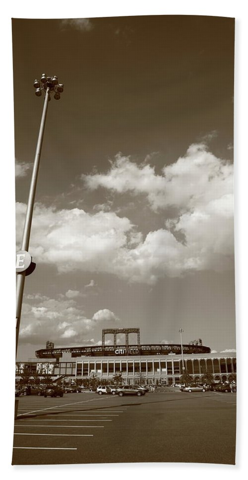 America Beach Towel featuring the photograph Citi Field - New York Mets by Frank Romeo