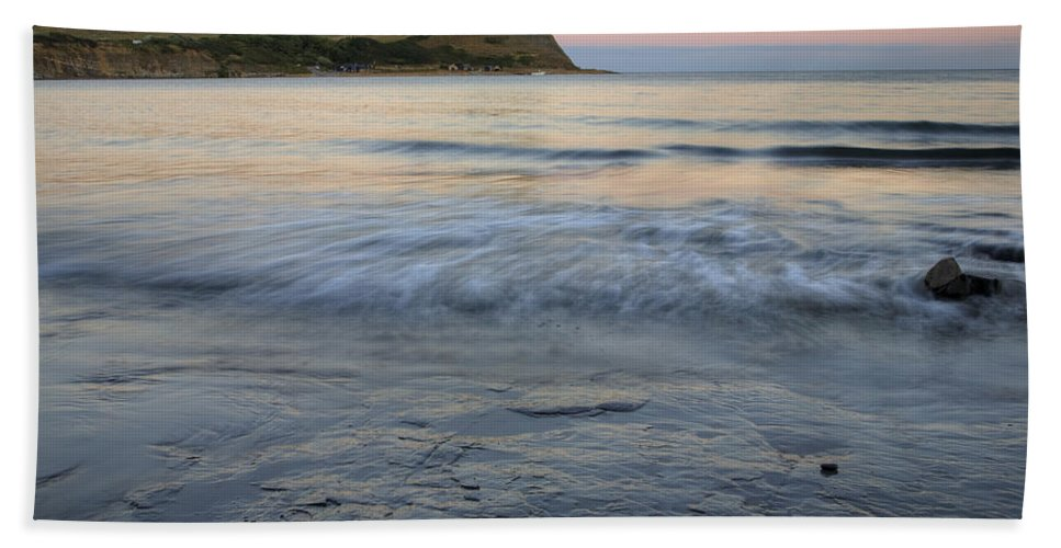 Kimmeridge Beach Towel featuring the photograph Kimmeridge Bay In Dorset by Ian Middleton