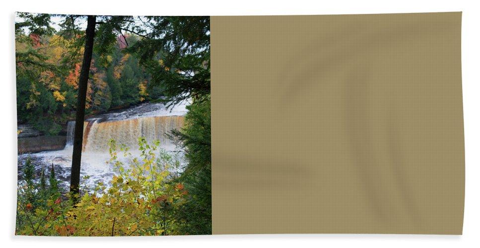 Tahquamenon Falls Beach Towel featuring the photograph Tahquamenon Falls by Linda Kerkau