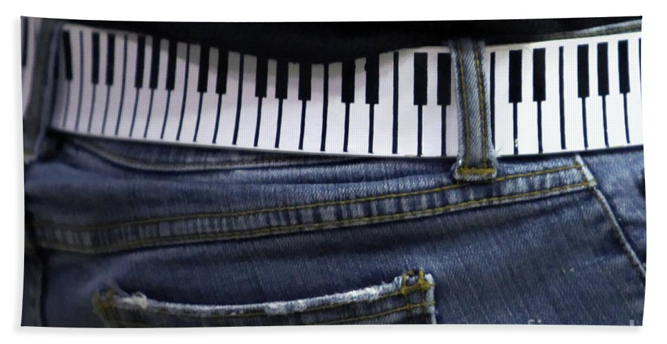 Acoustic Beach Towel featuring the photograph A Belt Of Cords by Alan Look