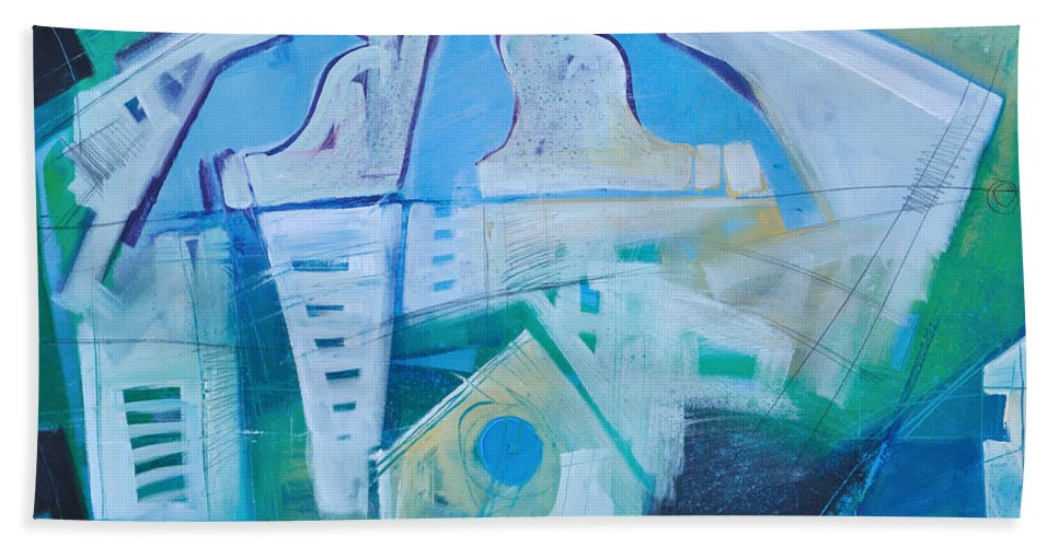 Birds Beach Towel featuring the painting A Birds Life by Tim Nyberg