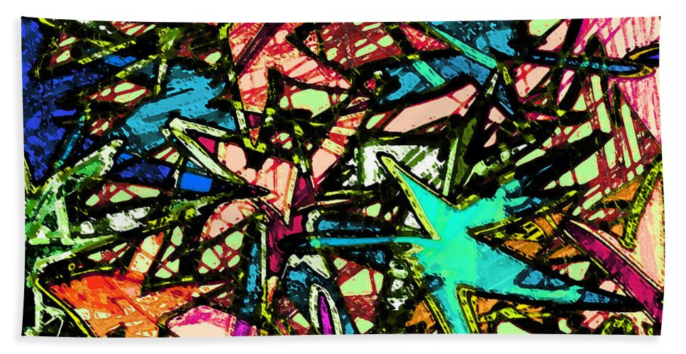 Abstract Beach Towel featuring the digital art A Dream Shattered by Rachel Christine Nowicki