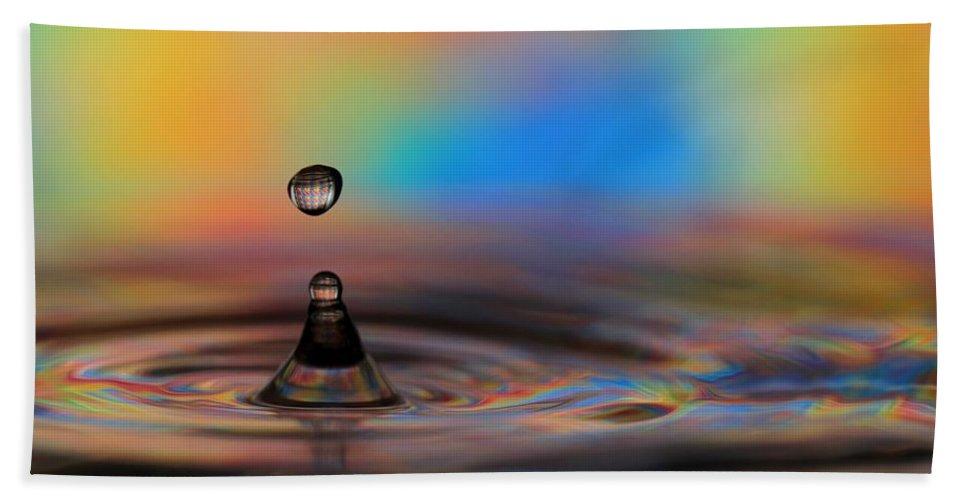 Drop Beach Towel featuring the photograph A Drop by Sabrina L Ryan