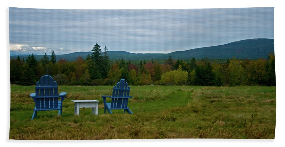acadia National Park Beach Towel featuring the photograph A Favorite Spot by Paul Mangold