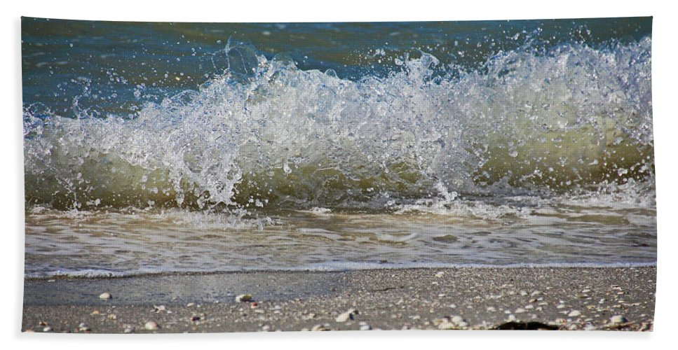 Sanibel Island Beach Towel featuring the photograph A Feisty Venus by Michiale Schneider