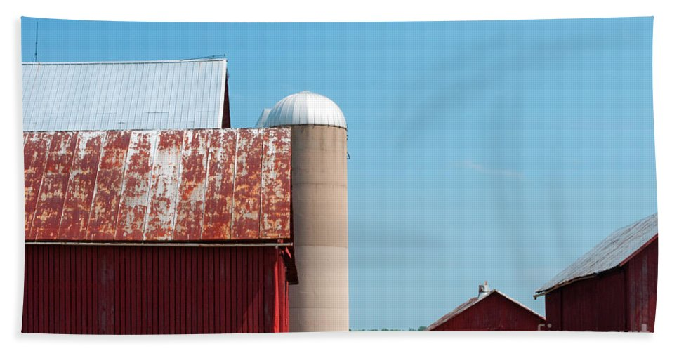Farm Beach Towel featuring the photograph A Fine Day For Farming by Paulette B Wright