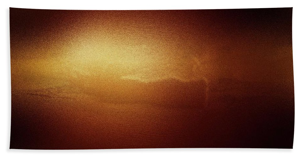 The Sun Beach Towel featuring the photograph A Glow Of Sunrise by Jeff Swan