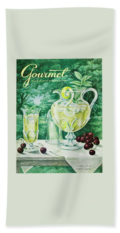 Food Beach Towel featuring the photograph A Gourmet Cover Of Glassware by Hilary Knight