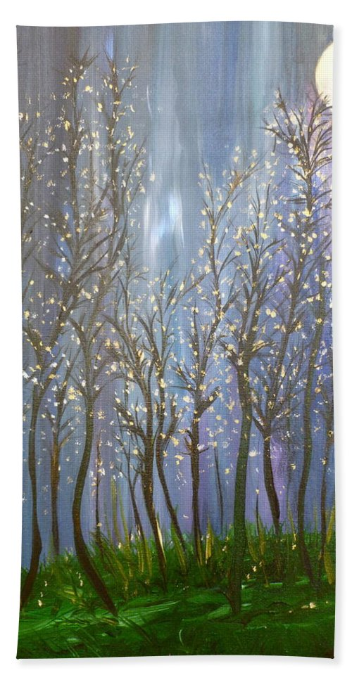 Whimsical Art Beach Towel featuring the painting A Haunting Romance by Sara Credito