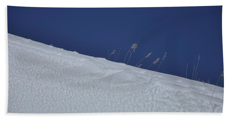 Blue Beach Towel featuring the photograph A late winter visit to the Bighorn Mountains by Frank Madia