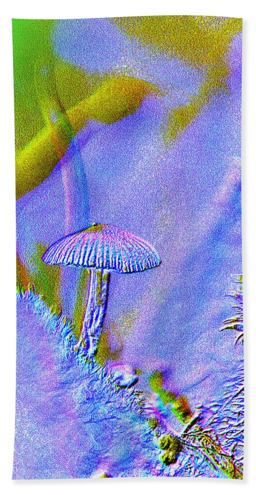 Abstract Beach Towel featuring the photograph A Little Mushroom by Jeff Swan