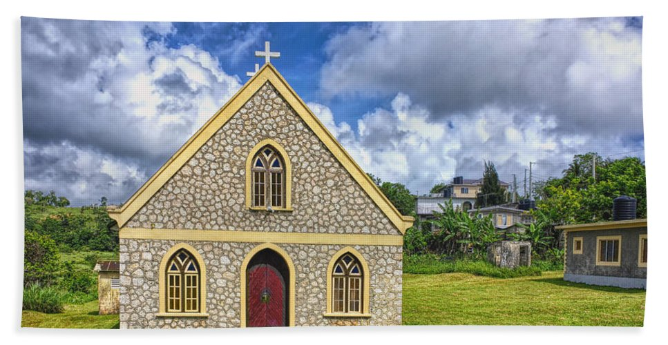Architecture Beach Towel featuring the photograph A Lovely Jamaican Church by John M Bailey