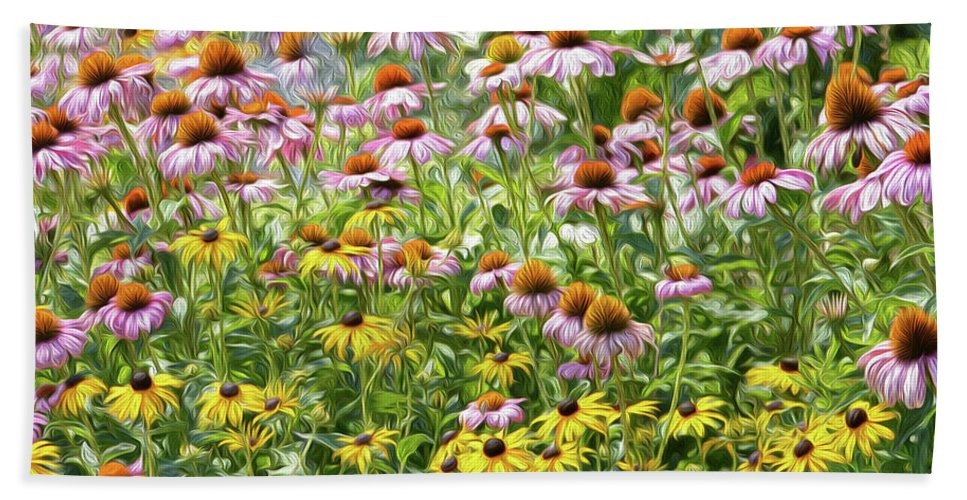 Floral Beach Towel featuring the photograph A Lover's Picnic by Tracie Fernandez