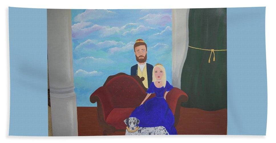 Family Portrait Beach Towel featuring the painting A Modern Renaissance by Kelly Gentry