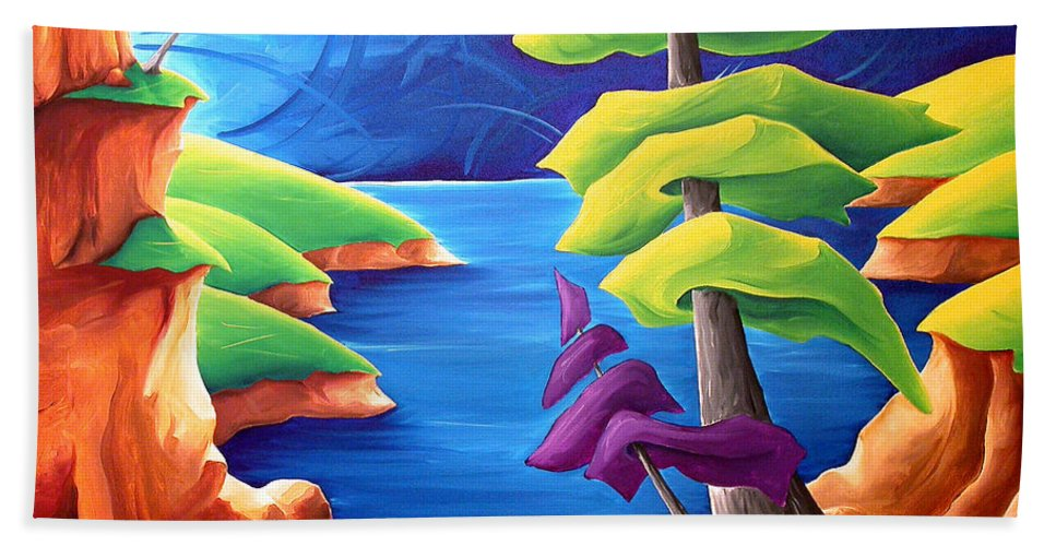 Landscape Beach Towel featuring the painting A Moment In Time by Richard Hoedl