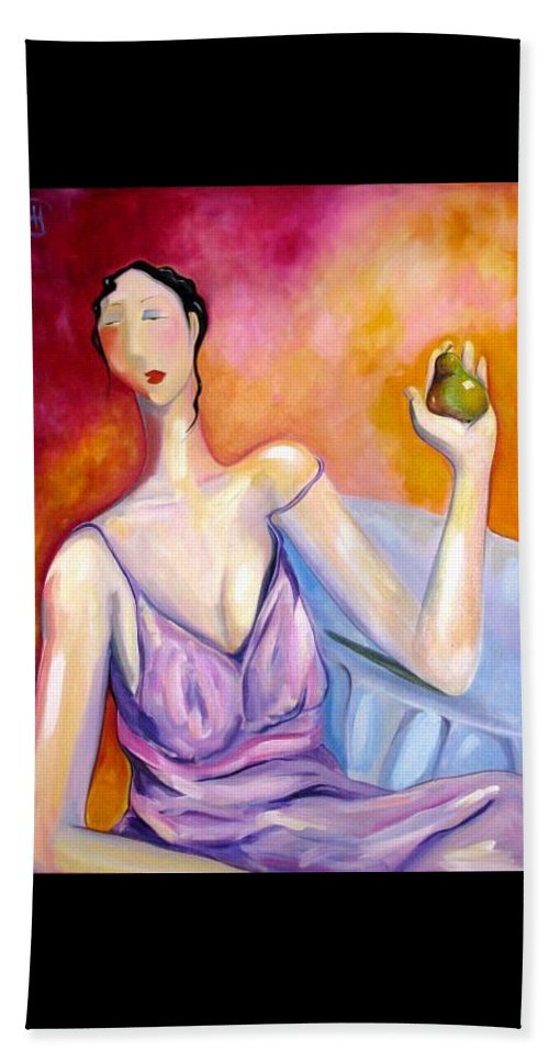 Figure Beach Sheet featuring the painting A New Pair by Heather Roddy