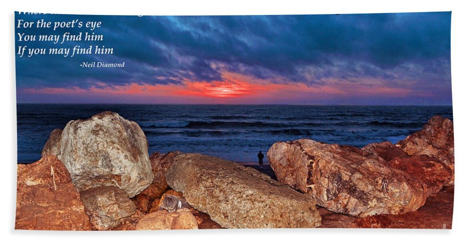 Sunset Beach Towel featuring the photograph A Painted Sky For The Poet's Eye by Jim Fitzpatrick