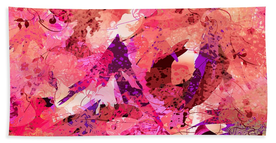 Abstract Beach Towel featuring the digital art A Passage Through Time by Rachel Christine Nowicki