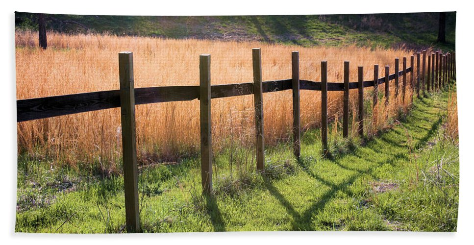 Fence Beach Towel featuring the photograph A Path Seldom Taken by Kristin Elmquist