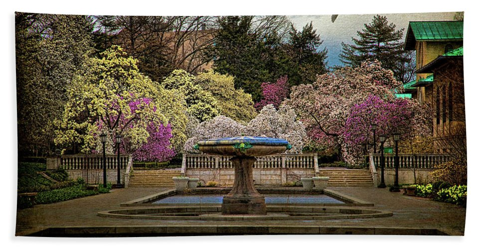 Brooklyn Beach Towel featuring the photograph A Rainy Day In Magnolia Season by Chris Lord