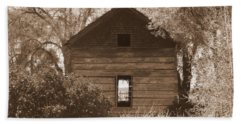 Old Cabin Beach Towel featuring the photograph A Room With A View by Carol Groenen