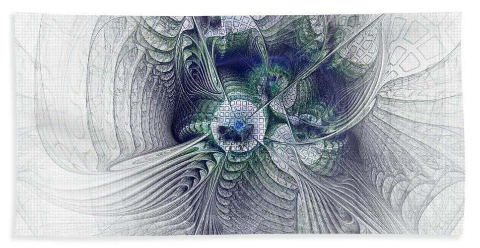Spiritual Beach Towel featuring the digital art A Secret Sky - Fractal Art by NirvanaBlues
