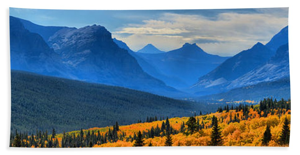 Montana Highway 2 Beach Towel featuring the photograph A Slice Of Autumn by Adam Jewell