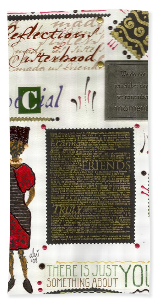 Gretting Cards Beach Towel featuring the mixed media A Special Friend by Angela L Walker