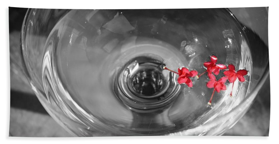 Water Beach Towel featuring the photograph A Splash Of Color by Mandy Shupp