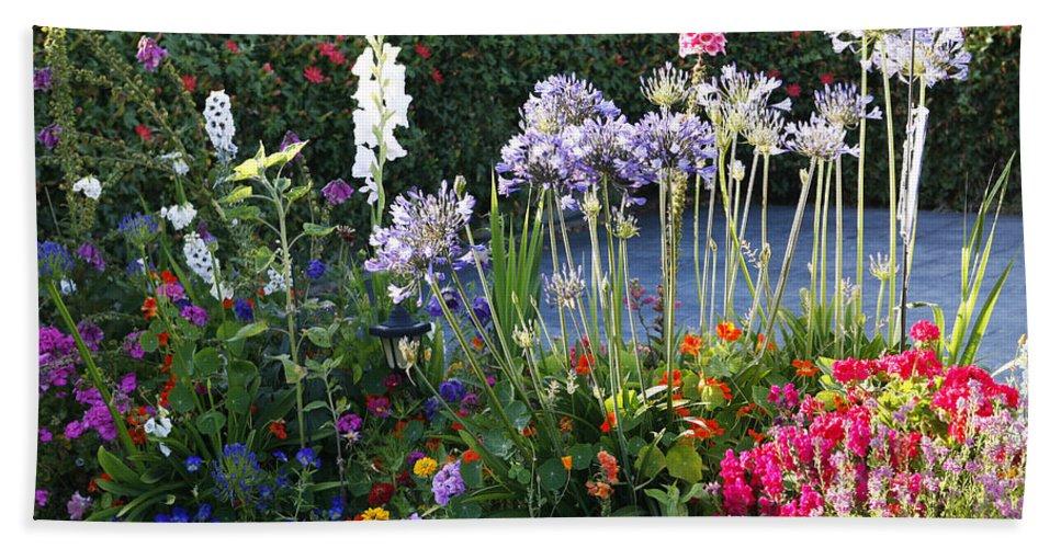 Summer Beach Towel featuring the photograph A Summer Garden by Marilyn Hunt