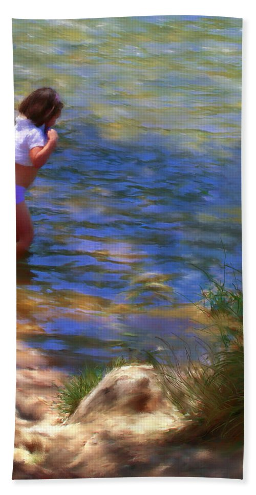 Children Beach Towel featuring the painting A Sweet Cool Dip by Colleen Taylor