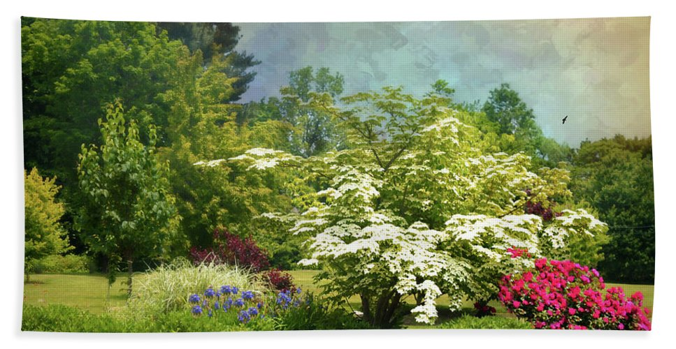 Landscape Beach Towel featuring the photograph A Trace Of Summer by Diana Angstadt