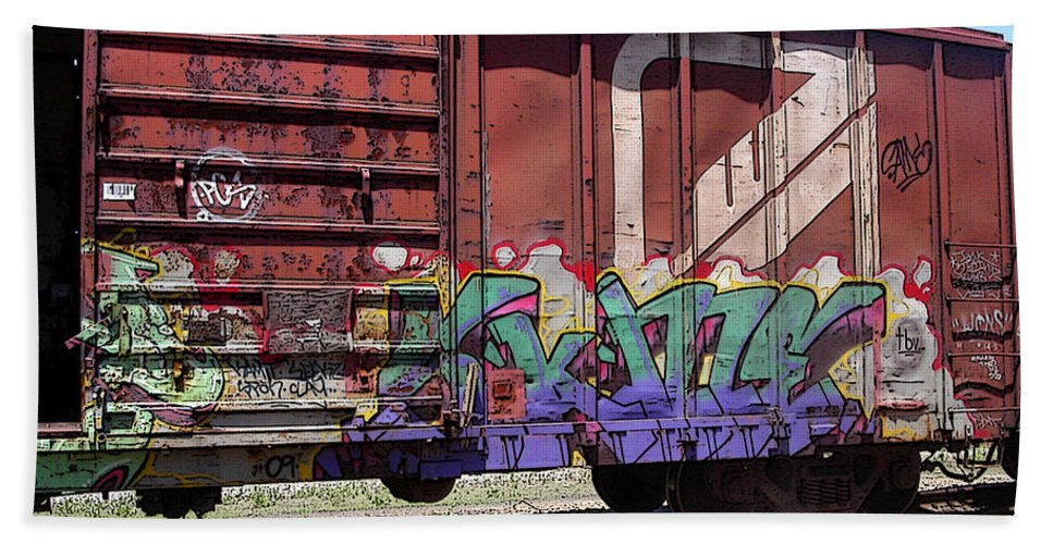 Train Beach Towel featuring the photograph A Train Car Named Desire by Anne Cameron Cutri