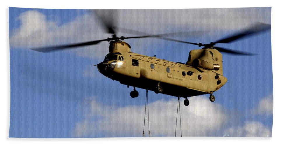 Afghanistan Beach Towel featuring the photograph A U.s. Army Ch-47 Chinook Helicopter by Stocktrek Images