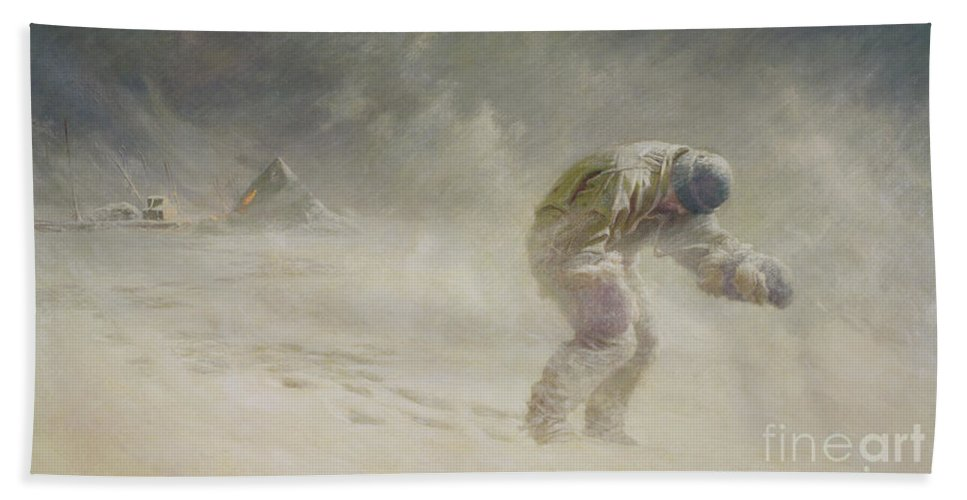 Very Beach Towel featuring the painting A Very Gallant Gentleman by John Charles Dollman