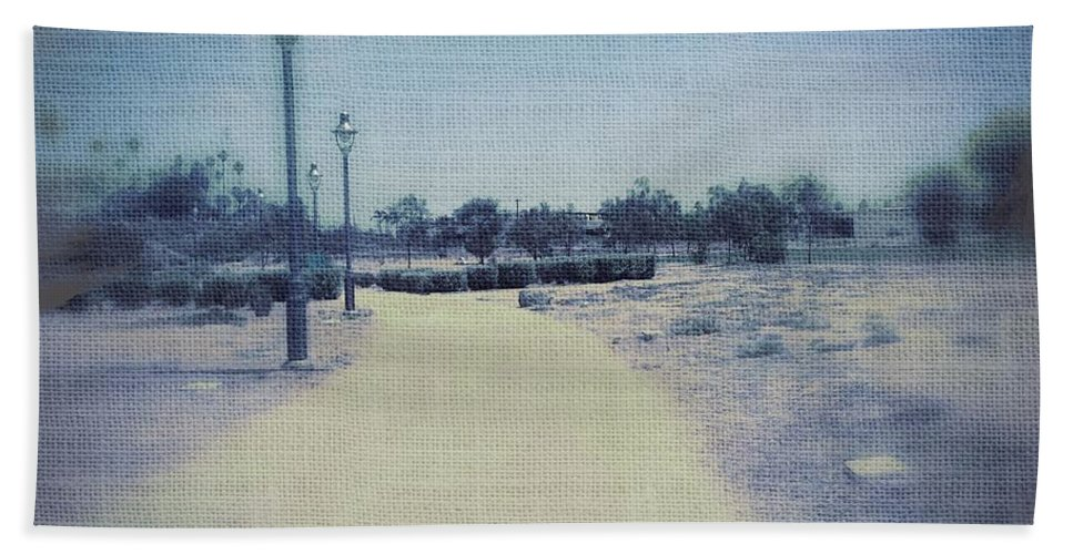 Landscape Beach Towel featuring the photograph A Walk In The Park by Judith Kitzes