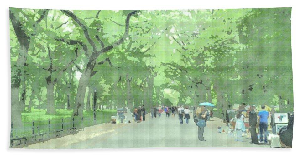 New York Beach Towel featuring the photograph A Walk Through Central Park by Jennifer Frechette