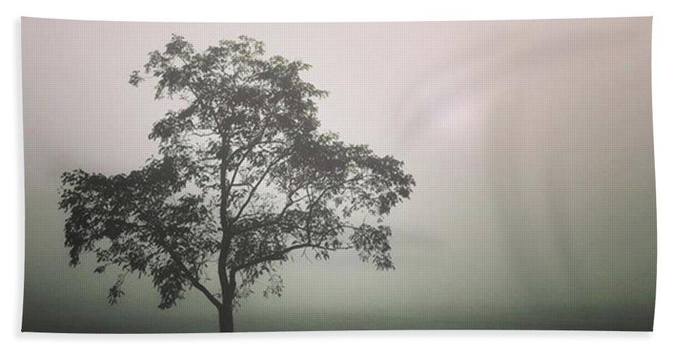 Fog Beach Towel featuring the photograph A Walk Through The Clouds #fog #nuneaton by John Edwards