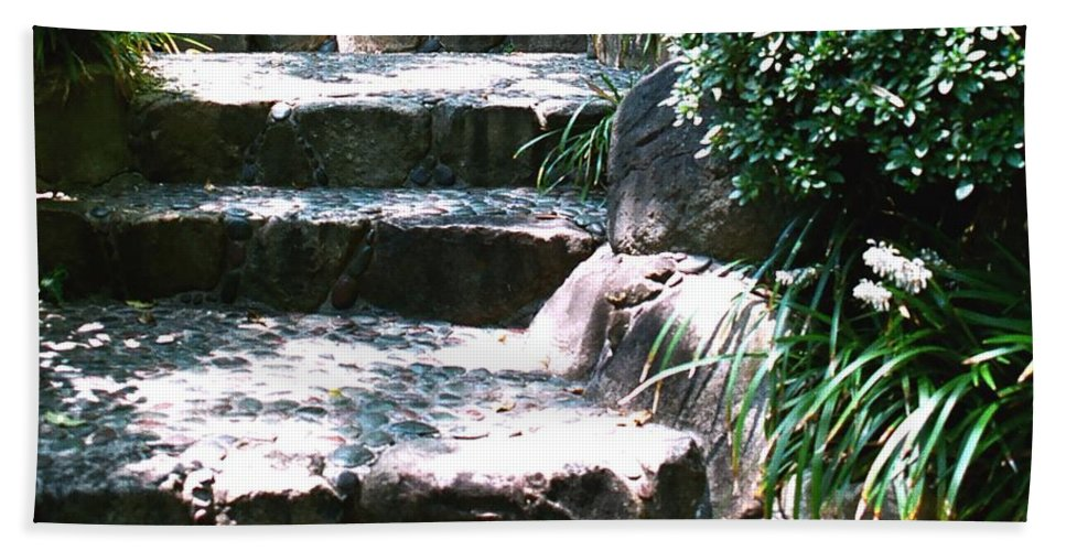 Stairs Beach Towel featuring the photograph A Way Out by Dean Triolo