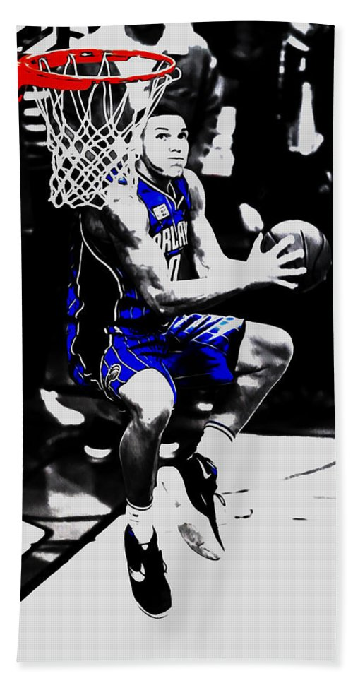 Aaron Gordon Beach Towel featuring the mixed media Aaron Gordon by Brian Reaves
