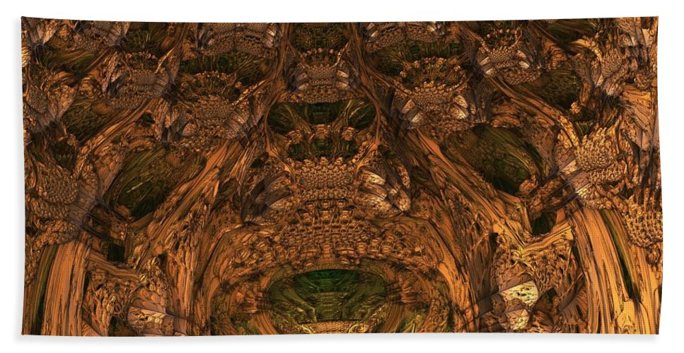 Mandelbulb Beach Towel featuring the digital art Abandon All Hope Ye Who Enter Here by Lyle Hatch