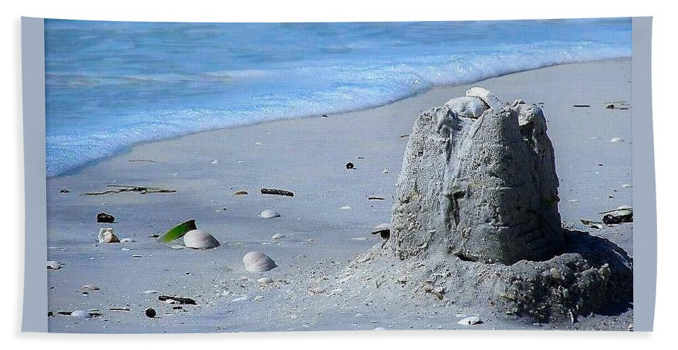 Sand Beach Towel featuring the photograph Abandoned Castle by Judith L Schade
