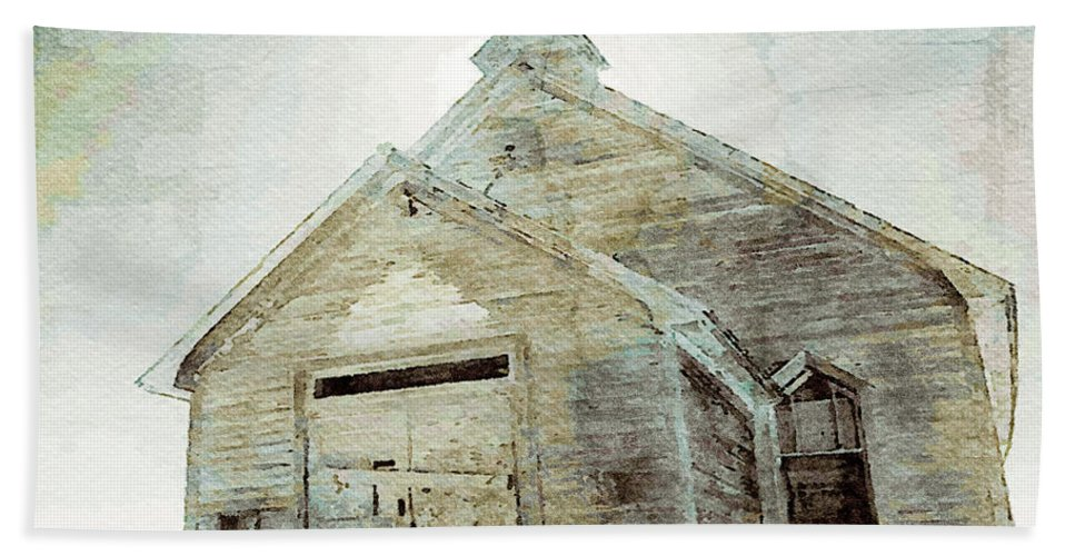 Old Churches Beach Towel featuring the mixed media Abandoned Church 1 by Dennis Buckman