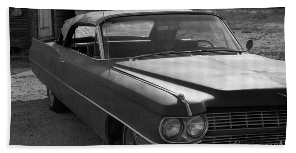 Cadillac Beach Towel featuring the photograph Abandoned Classic by Richard Rizzo
