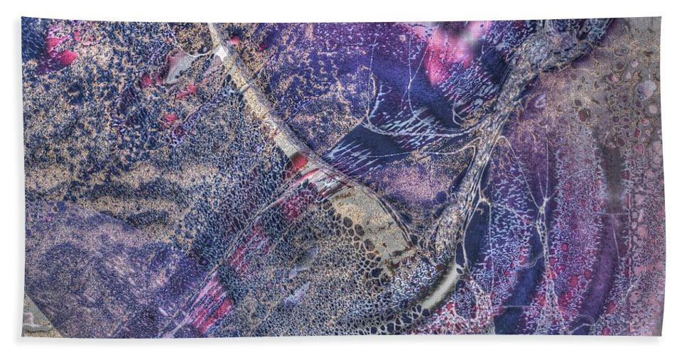 Collage Sureal Beach Towel featuring the mixed media Abcollage by Yury Bashkin